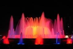 barcelona fontann krajobrazowy śpiew Obrazy Royalty Free