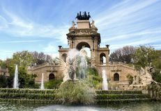 barcelona fontanna Hiszpanii Obrazy Royalty Free