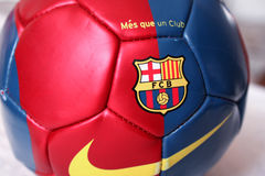 Barcelona fotbollboll Royaltyfri Bild
