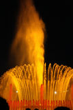 Barcelona Fountain. A beautiful lit fountain in Barcelona at night royalty free stock photography