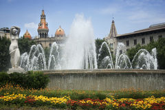 Barcelona fountain Stock Photography