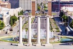 Barcelona fountain view Stock Photography