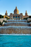 Barcelona, Fountains at MNAC Royalty Free Stock Photo