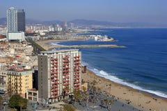 barcelona främre hav fotografering för bildbyråer