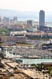 Barcelona från över Arkivbilder
