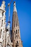 Barcelona Fragment av templet av Sagrada Familia Fasad av Nati Royaltyfria Foton