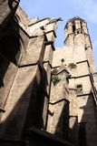 Barcelona.Fragment of a Gothic cathedral. Stock Images