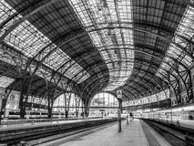 Barcelona France Station. Barcelona, Spain - October 10, 2015. Empty platforms in the Estacion de Francia in Barcelona with a train waiting on the right side Stock Images
