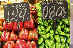 Barcelona, fresh vegetables from spain Stock Photography