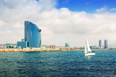 Barcelona From Sea Stock Photo