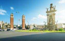 Barcelona fyrkant av Spanien royaltyfria bilder
