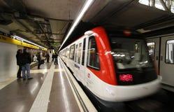 barcelona gångtunnel arkivfoto