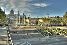 Barcelona gallery HDR Royalty Free Stock Photos