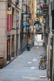 Barcelona gammal stad Arkivfoto