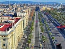 Barcelona gammal stad Arkivbilder