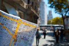 Barcelona gata. arkivbilder
