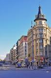 Barcelona gata Fotografering för Bildbyråer