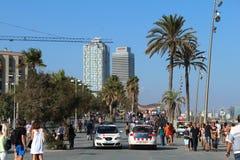 Barcelona gata, Barceloneta Arkivfoto