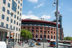 barcelona gata arkivbilder