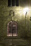 Barcelona - gate of gothic house in the night Royalty Free Stock Photos