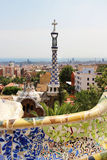 Barcelona Gaudi buildings in details Stock Photo