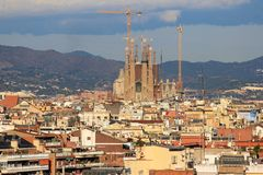 Barcelona, Gaudi, Church Royalty Free Stock Image