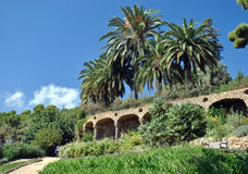 Barcelona Gaudi's Guell park Royalty Free Stock Image