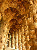 Barcelona Gaudi's Guell park. This is a very unique architecture by Gaudi Royalty Free Stock Images