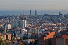 Barcelona gesehen vom Park Guell Lizenzfreies Stockfoto