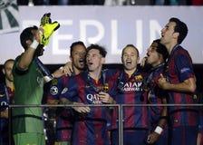 Barcelona gewinnt Meister-Liga-Schluss Stockbilder