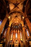 Barcelona Gothic. Oldest gothic church in Barcelona Stock Image