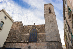 Barcelona: Gothic Cathedral of Santa Eulalia in Barri Gotic Royalty Free Stock Photo