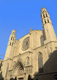 Barcelona - gothic cathedral Santa Maria del mar Royalty Free Stock Photos