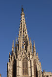 Barcelona Gothic Cathedral Tower Stock Photo