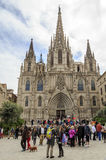 Barcelona gothic catholic cathedral Stock Photo