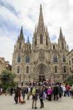 Barcelona gothic catholic cathedral Stock Photo