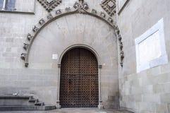 Barcelona, gothic drzwi, gothic ćwiartka Zdjęcia Stock