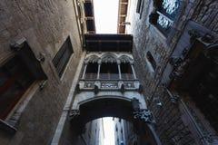 barcelona gothic kwartału, Obraz Royalty Free