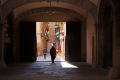 Barcelona Gothic quarter Stock Images