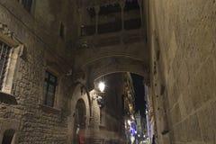 barcelona gotisk fjärdedel Royaltyfri Bild