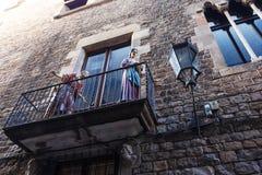 barcelona gotisk fjärdedel Royaltyfri Fotografi
