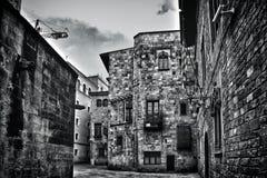 barcelona gotisk fjärdedel spain Royaltyfria Bilder