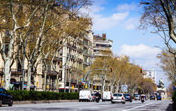 Barcelona. Gran Via de les Corts Catalanes Royalty Free Stock Photos