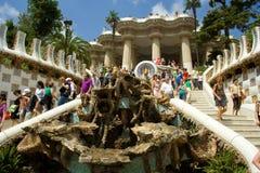 barcelona guell parc Obrazy Stock
