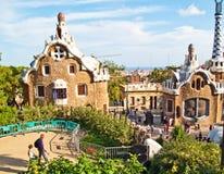 barcelona guell parc Obrazy Royalty Free