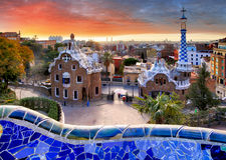 barcelona guell park zdjęcie royalty free