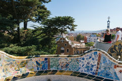 barcelona guell park obrazy royalty free