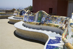 Barcelona -  Guell park from Gaudi Stock Image