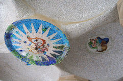 barcelona guell park Spain Obraz Stock