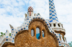 barcelona guell park Spain Obrazy Royalty Free